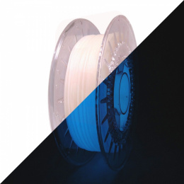 Rosa filament PLA Starter 1,75mm 0,8kg Glow in the Dark Blue
