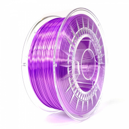 Filament Silk PLA 1.75 mm Devil Design 1 kg Fioletowy
