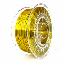 Filament Silk PLA 1.75 mm Devil Design 1 kg Złoty